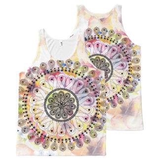 Watercolor Mandala All-Over-Print Tank Top
