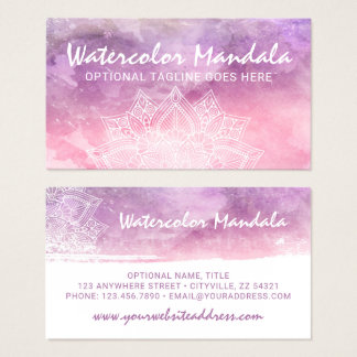 Watercolor Mandala Holistic Healing Spiritual Business Card