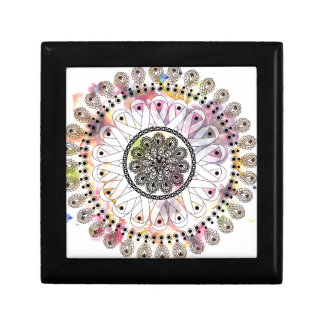 Watercolor Mandala Jewelry Box