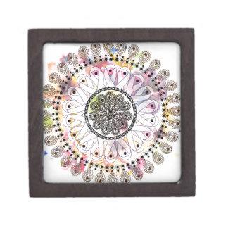 Watercolor Mandala Keepsake Box