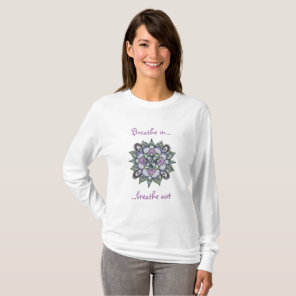 Watercolor Mandala long sleeve t-shirt