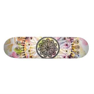 Watercolor Mandala Skateboard Deck