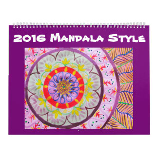 Watercolor Mandala Style Calendar