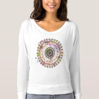 Watercolor Mandala Tee Shirt