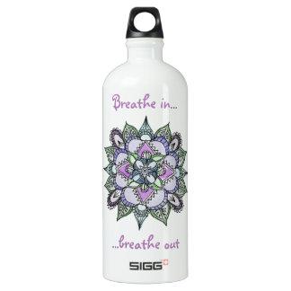 Watercolor Mandala Water Bottle
