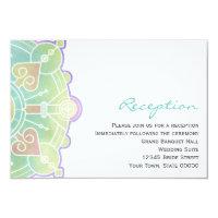 Watercolor Mandala Wedding Reception Info Card (<em>$1.86</em>)