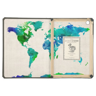 Watercolor Map of the World Map Case For iPad Air