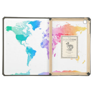 Watercolor Map of the World Map iPad Air Cover