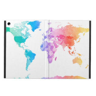 Watercolor Map of the World Map iPad Air Cases