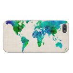 Watercolor Map of the World Map Cover For iPhone 5/5S