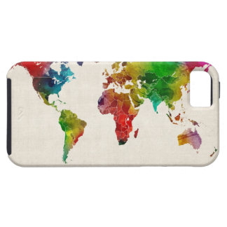 Watercolor Map of the World Map iPhone SE/5/5s Case