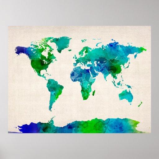 World Maps Posters World Maps Prints World Maps Art