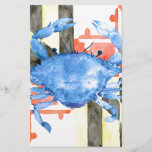 "Watercolor maryland flag and blue crab<br><div class=""desc"">Watercolor maryland flag and blue crab,  Maryland crab.</div>"