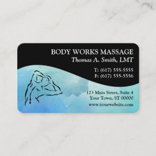 Lmt business cards zazzle watercolor massage therapy business cards colourmoves