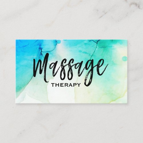 Watercolor Massage Therapy Massage Therapist Business Card