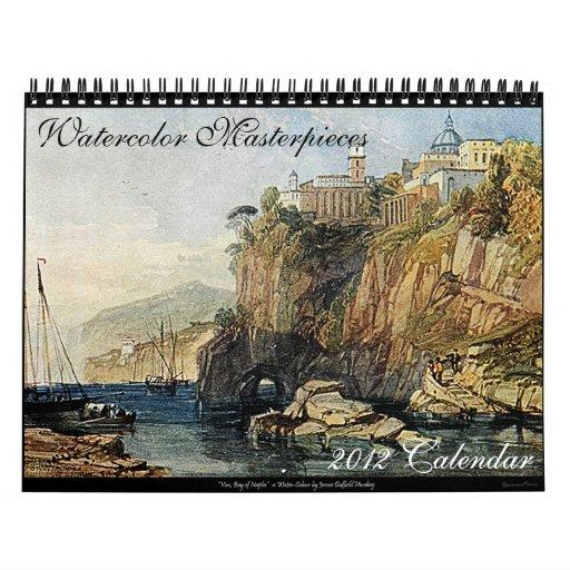 Watercolor Masterpieces 2012 Art Calendar (Medium)