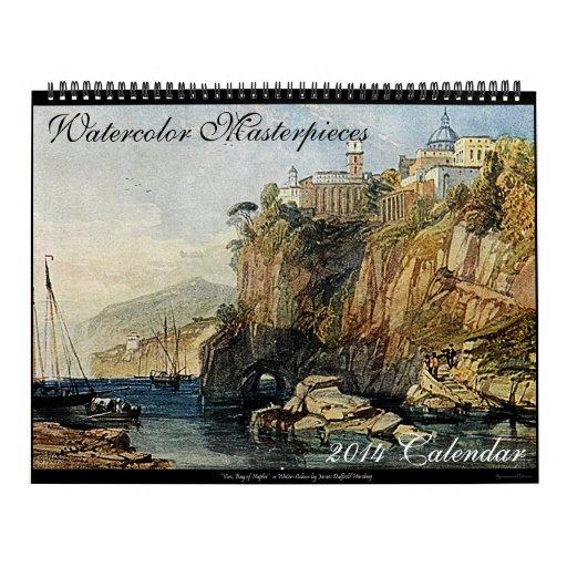 Watercolor Masterpieces 2014 Art Calendar (Large)
