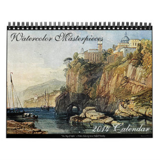 Watercolor Masterpieces 2014 Art Calendar (Medium)