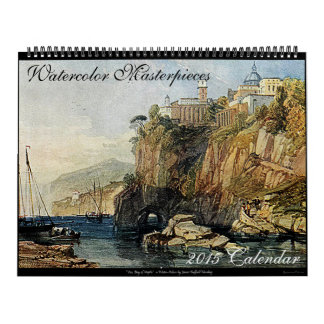 Watercolor Masterpieces 2015 Art Calendar (Large)