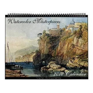 Watercolor Masterpieces 2016 Art Wall Calendar Big