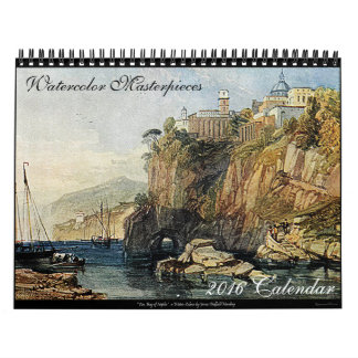 Watercolor Masterpieces 2016 Fine Art Calendar