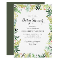 Watercolor Meadow Baby Shower Card
