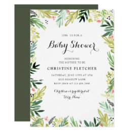 Baby girl shower invitations zazzle watercolor meadow baby shower card filmwisefo Choice Image