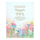 watercolor meadow save the date postcards