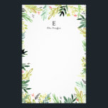 """Watercolor Meadow Stationery<br><div class=""""desc"""">Hand painted watercolor floral and leaf pattern by Shelby Allison.</div>"""