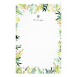 Watercolor Meadow Stationery<br><div class='desc'>Hand painted watercolor floral and leaf pattern by Shelby Allison.</div>