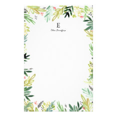 Watercolor Meadow Stationery at Zazzle