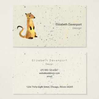 Watercolor Meerkat on a Beige Professional Business Card