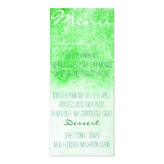 Watercolor Menu Card (Green)