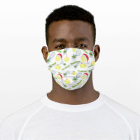 Watercolor Merry Christmas Tennis Racket And Balls Cloth Face Mask