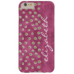 Watercolor Messy Polka Dots - lime and hot pink Barely There iPhone 6 Plus Case