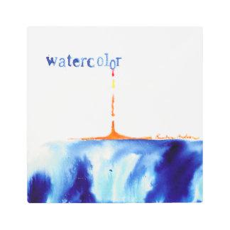 watercolor metal art