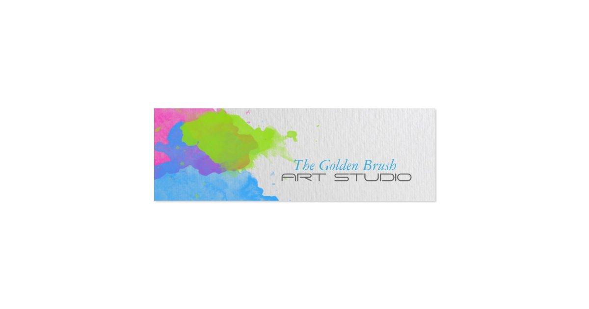 Watercolor Mini Business Card