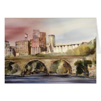 """Watercolor """"Minneapolis Historic District"""" Greeting Card"""