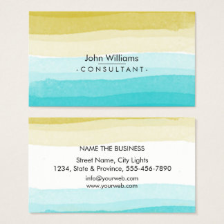Watercolor Modern Abstract Painted Brush Art Business Card