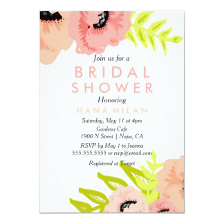 Watercolor Modern Bridal Shower Invitation
