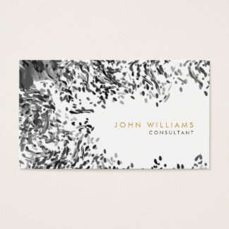 Watercolor Modern Nature Paints Black and White Business Card