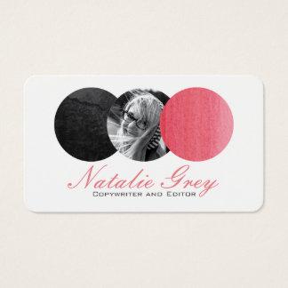 Watercolor Modern Photo Circles Business Card