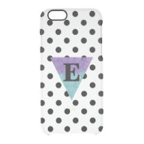 Watercolor Monogram B/W Polka Dot Clear iPhone 6/6S Case