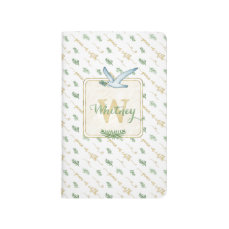 Watercolor Monogram Typography Peace on Earth Journal