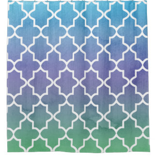 Moroccan Pattern Shower Curtains Zazzle