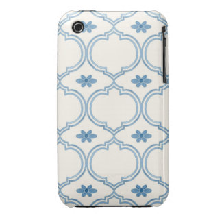 Watercolor Moroccan Quatrefoil Vintage Pattern iPhone 3 Case-Mate Case
