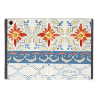 Watercolor Moroccan Quatrefoil Vintage Pattern Case For iPad Mini