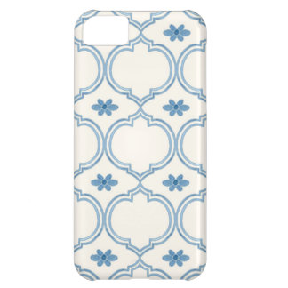 Watercolor Moroccan Quatrefoil Vintage Pattern Cover For iPhone 5C