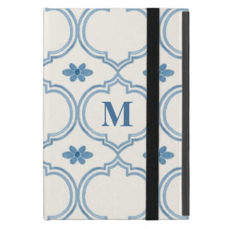 Watercolor Moroccan Quatrefoil Vintage Pattern Covers For iPad Mini