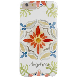 Watercolor Moroccan Sunset Vintage Personalized Barely There iPhone 6 Plus Case